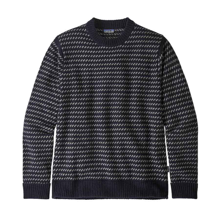 Patagonia Recycled Wool Sweater Navy Pattern