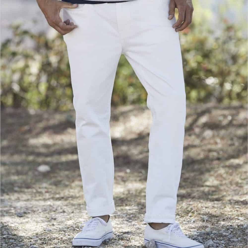 Outerknown Drifter Tapered Fit White Jeans
