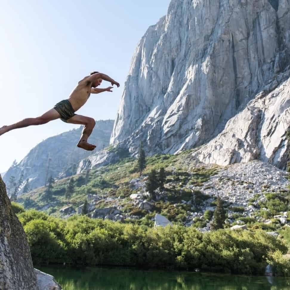 Patagonia Cliff Jumping Photo