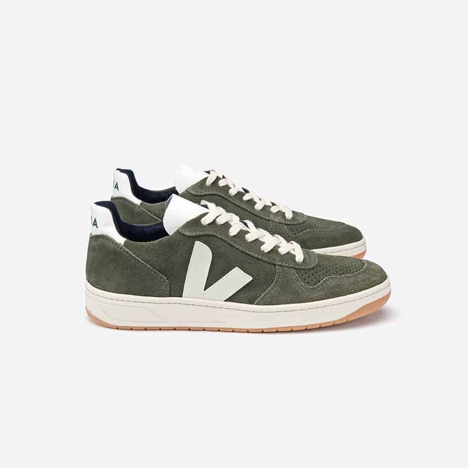 Veja V10 Olive Pierre Suede Sneaker