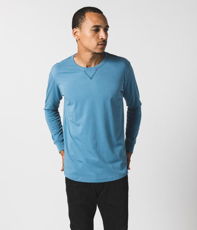 Blue Long Sleeve Tee by Known Supply