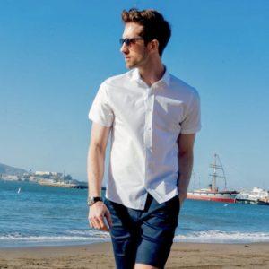 Vustra Zest Short Sleeve Button Up Mens Shirt