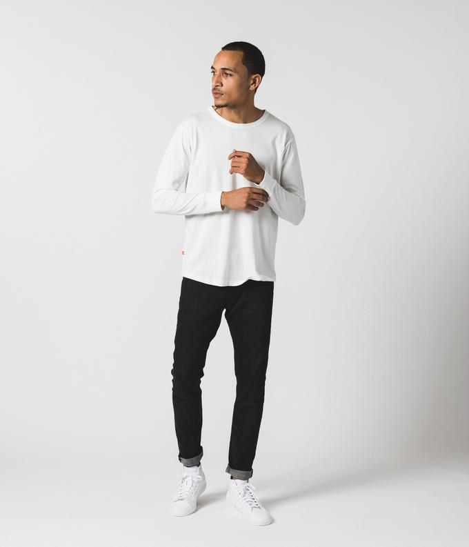 White Long Sleeve Shirt by Known Supply