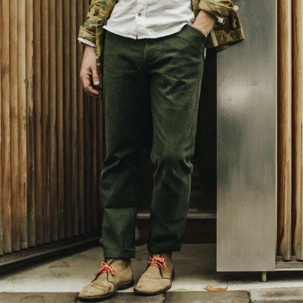 Taylor Stitch Camp Hemp Pants in Olive