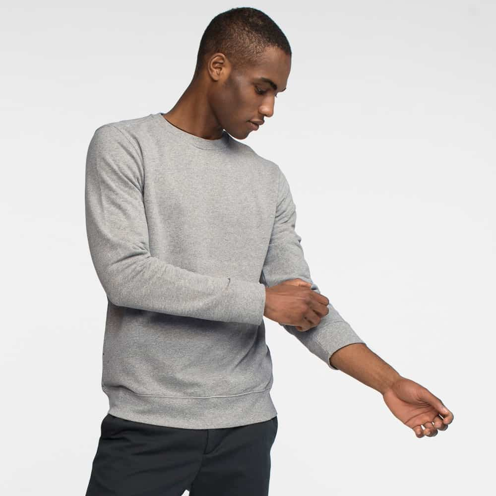 Tact & Stone French Terry Crew Sweatshirt in Heather