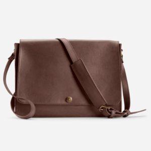 Parker Clay Austin Messenger Bag Brown