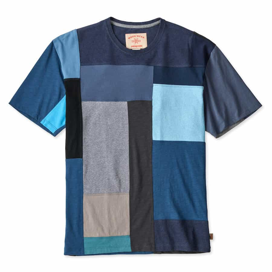 ReCrafted WornWear Tee by Patagonia in Blue
