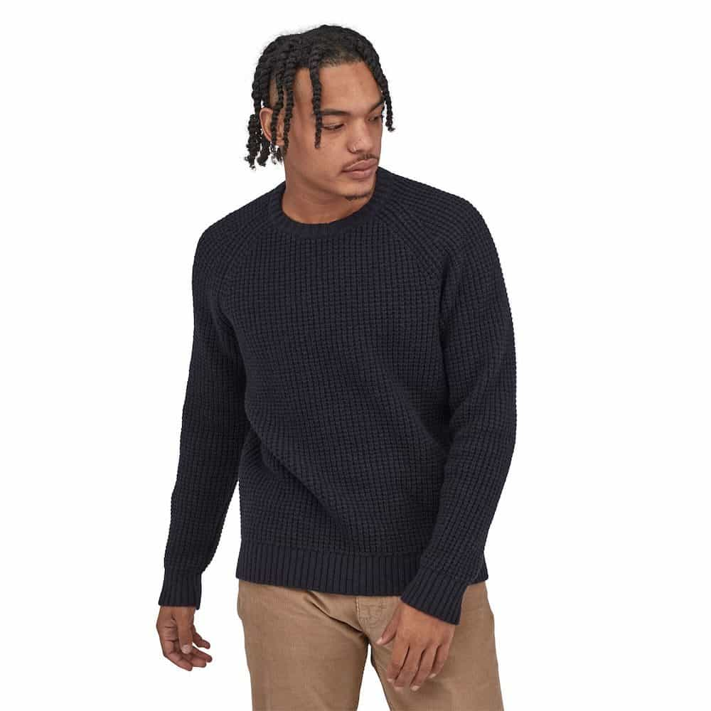 Patagonia Mens Recycled Wool Waffle Knit Sweater