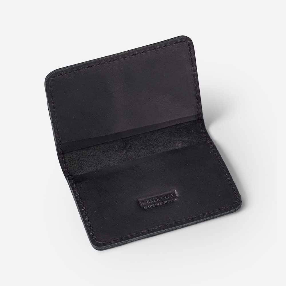 Foldover Card Wallet Parker Clay Black
