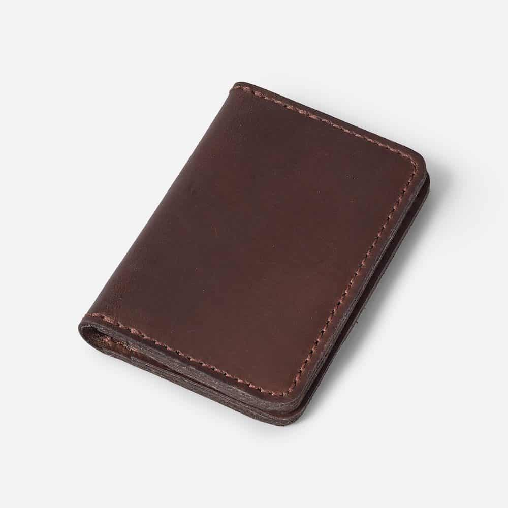 Foldover Card Wallet Parker Clay Brown