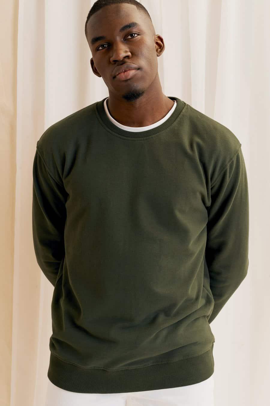 Army Green Sweatshirt Kotn Mens