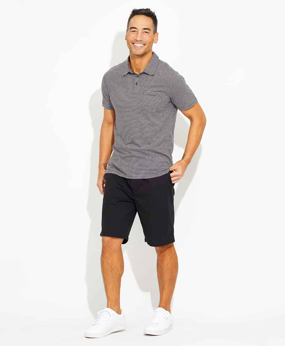 Mens Striped Element Polo Pact