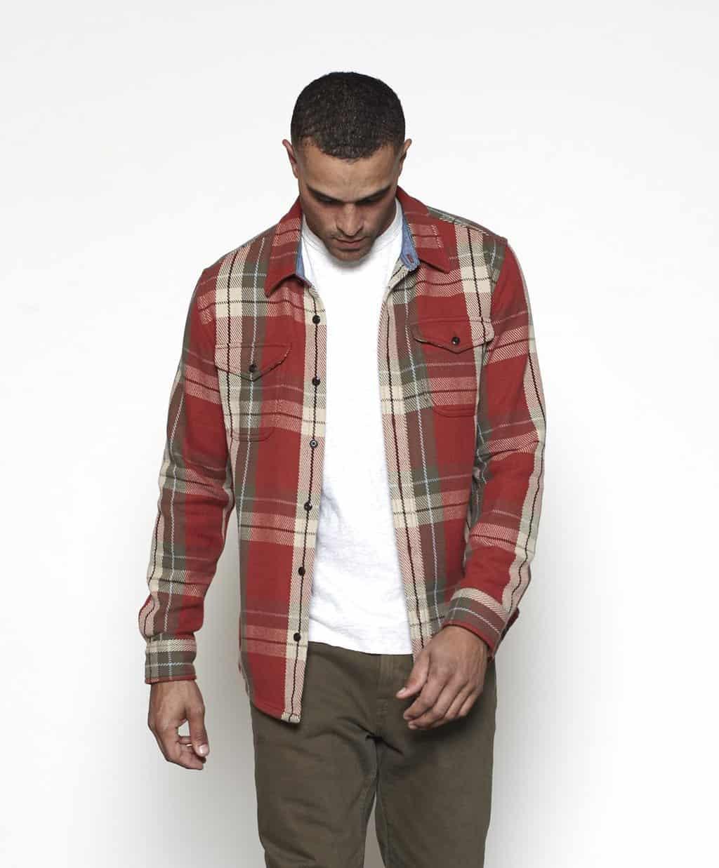 Outerknown Blanket Shirt Paprika Bodega Plaid