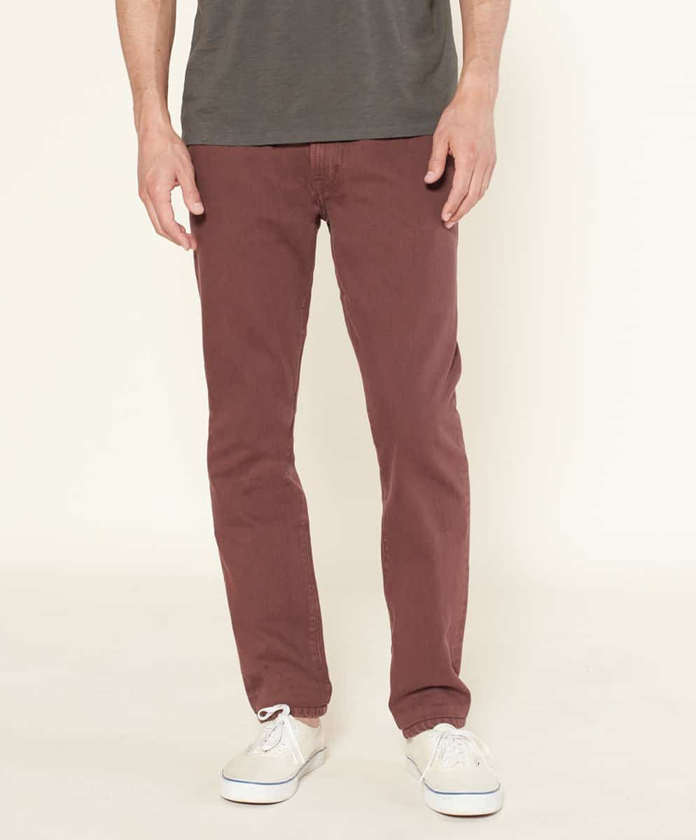 Outerknown Drifter Tapered Fit Mens Jeans in Redwood