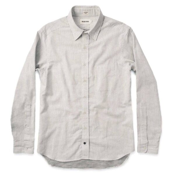 The California in Navy Jacquard Dot Shirt