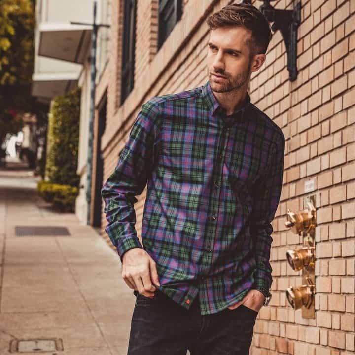 Vustra Mens Mode Tartan Shirt