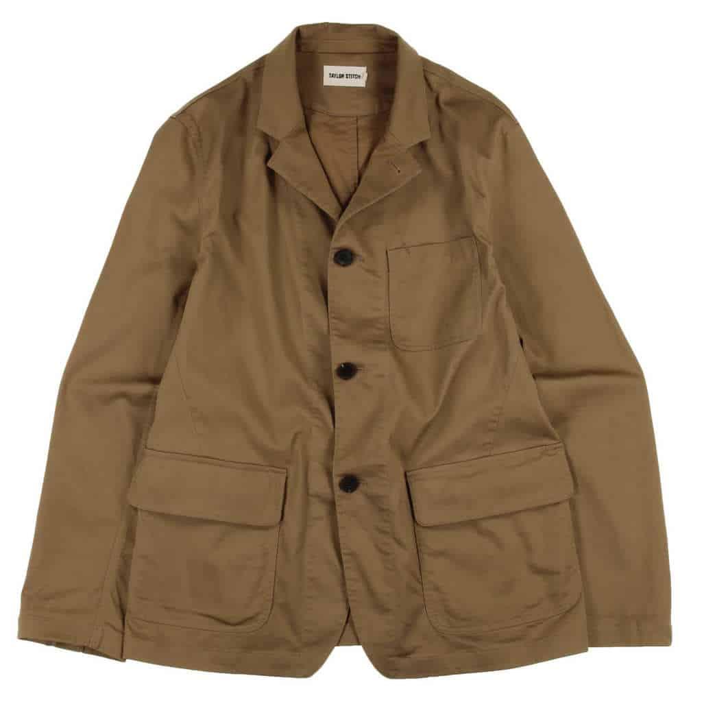 taylor stitch restitch gibson jacket in dark khaki