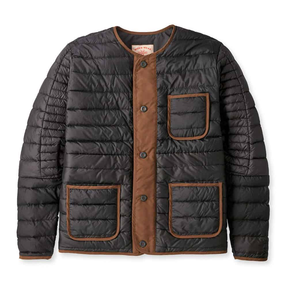 Patagonia Wornwear Recrafted Down Jacket Black Brown