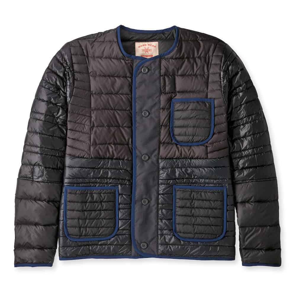 Patagonia Wornwear Recrafted Down Jacket Black Navy