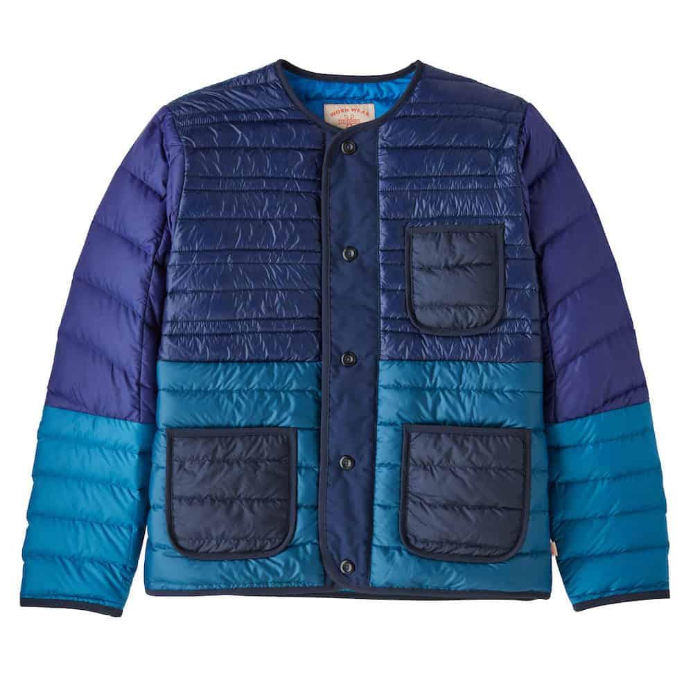 Patagonia Wornwear Recrafted Down Jacket Blue