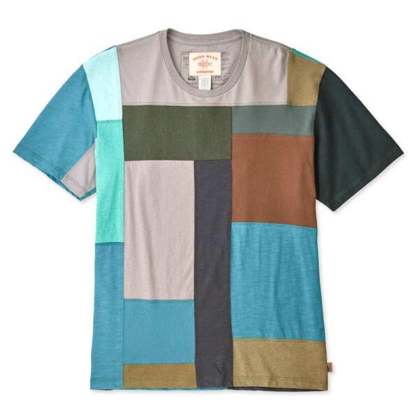 Patagonia Wornwear Recrafted Mens Tee Green Brown