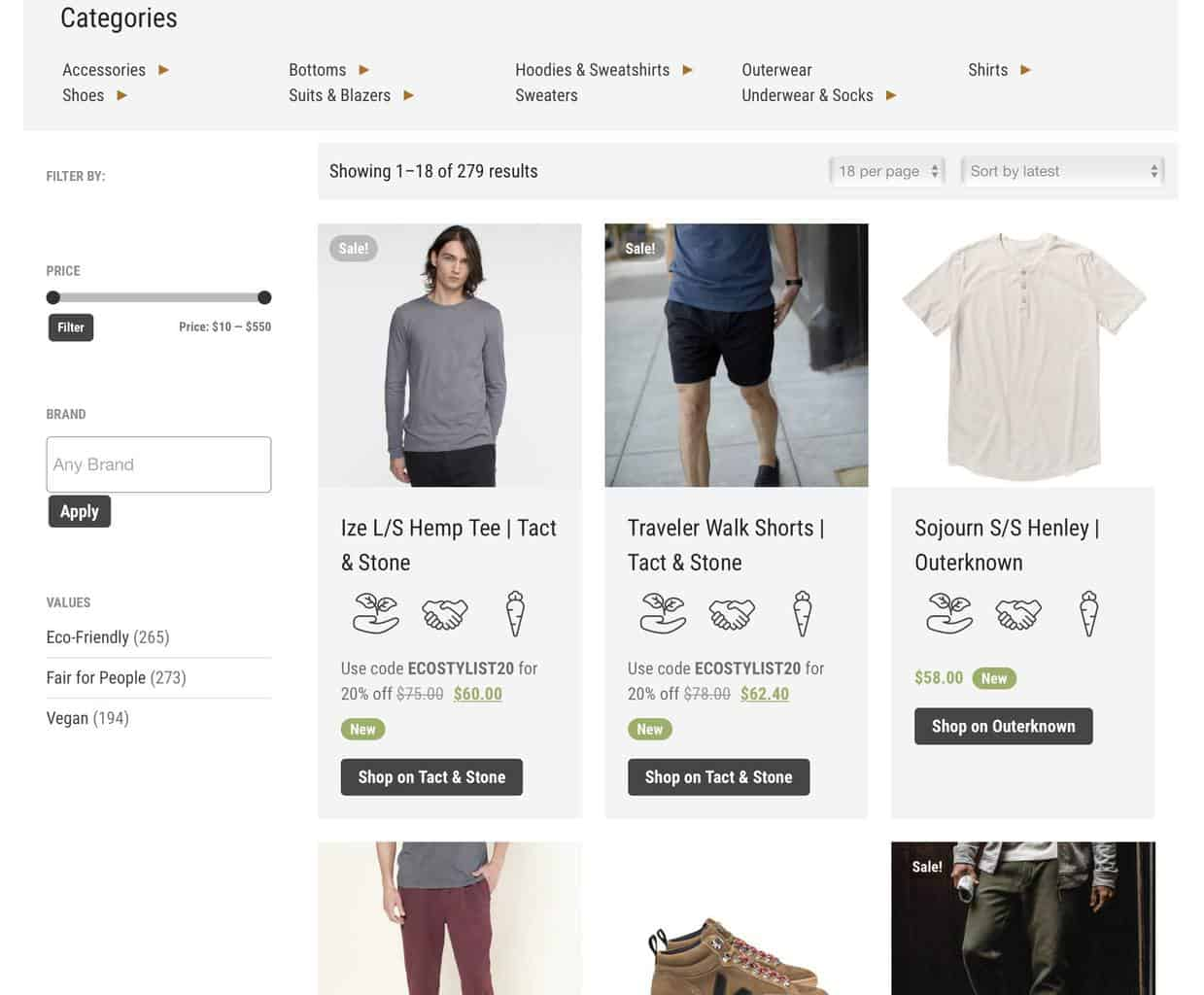 Eco-Stylist Curated Shop for Ethical Mens Clothes