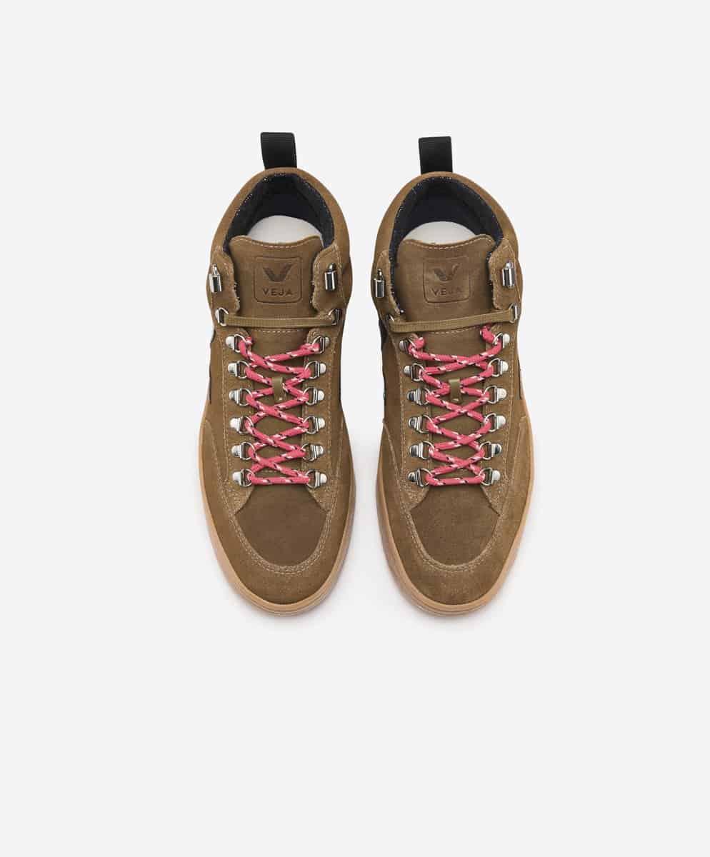 Veja Roraima Suede High Top Sneaker Brown Black
