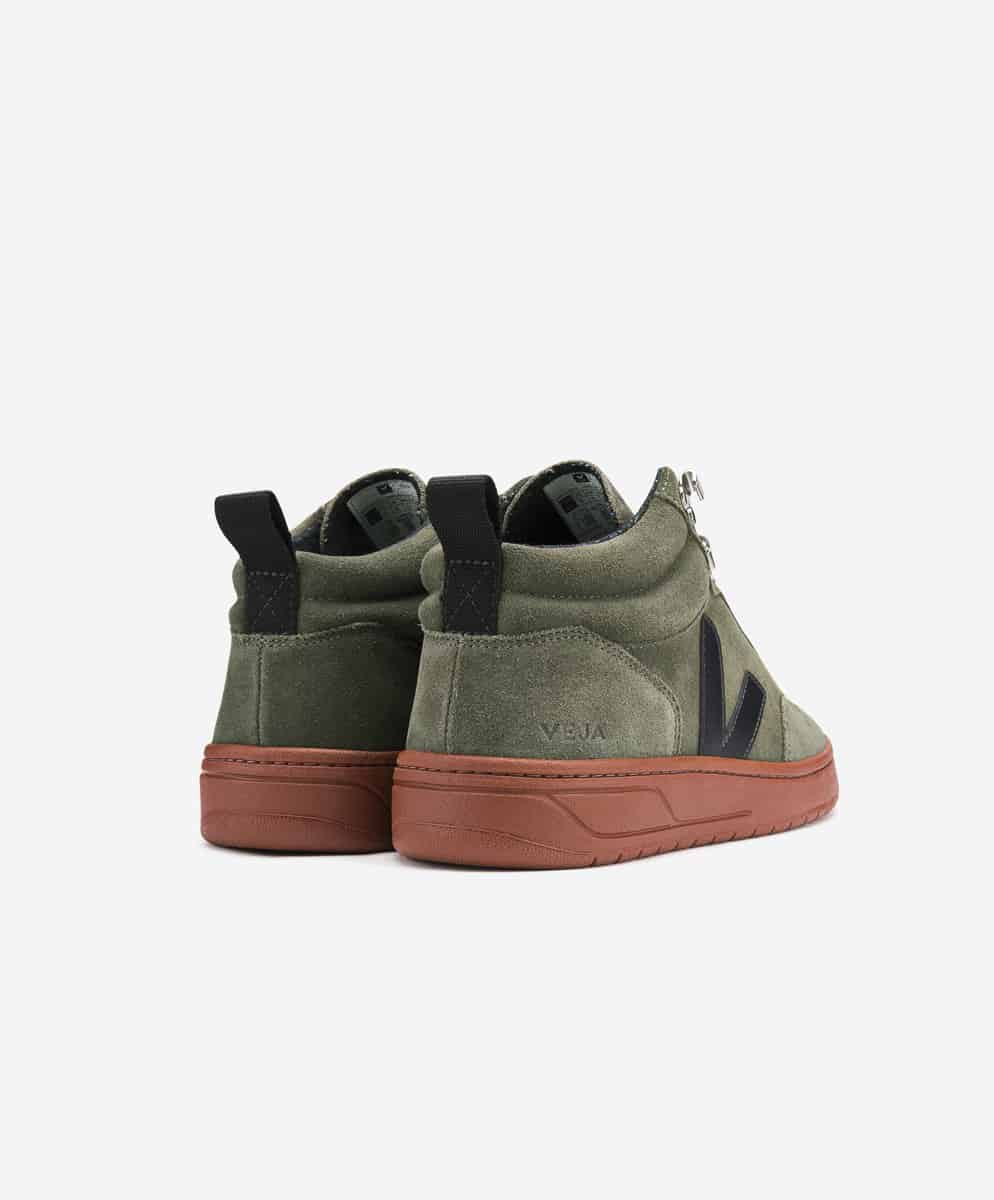 Veja Roraima Suede High Top Sneaker Olive Black