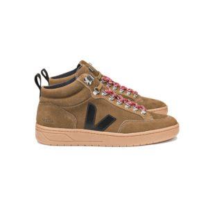 Veja Roraima Suede High Top Sneakers Brown Black