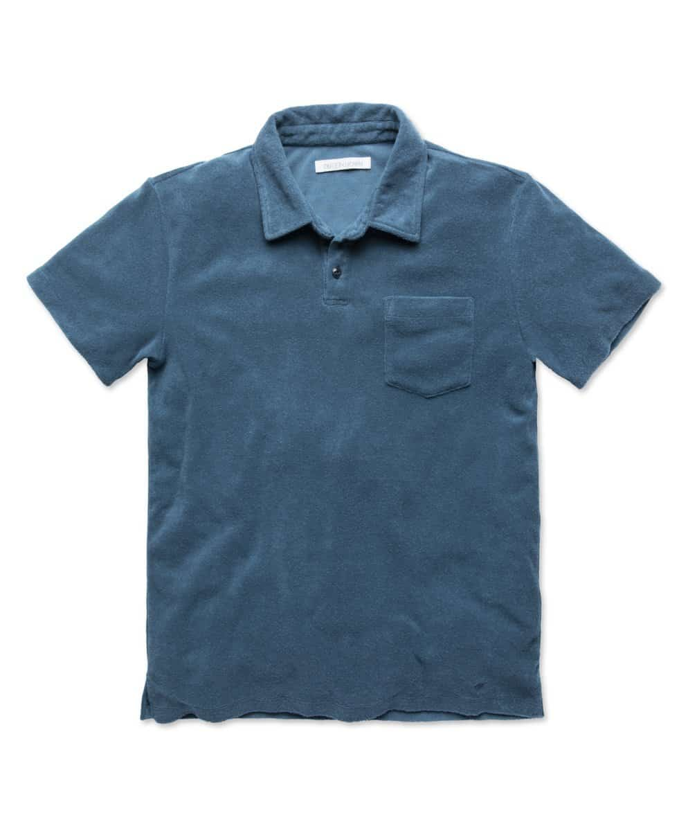 Outerknown Hightide Terry Polo Deep Sea