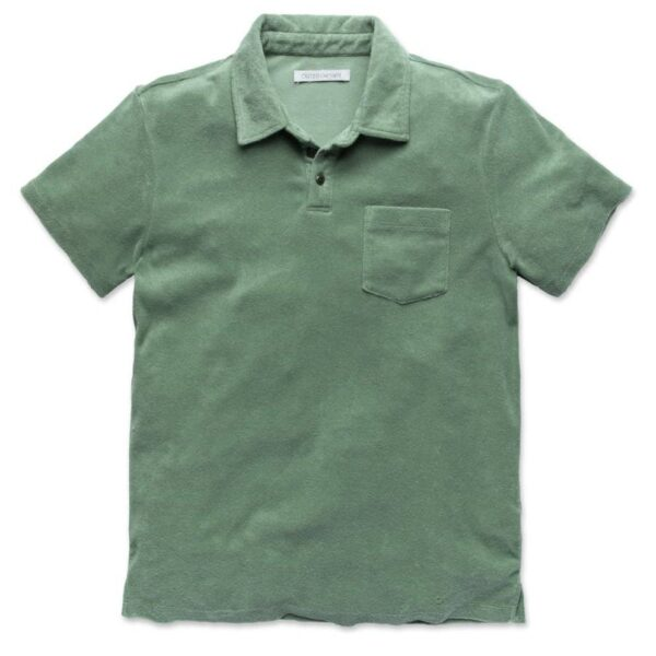 Outerknown Hightide Terry Polo Green Glass