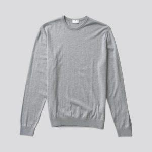 The Cotton Sweater Grey Melange