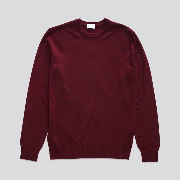 The Merino Sweater Burgundy