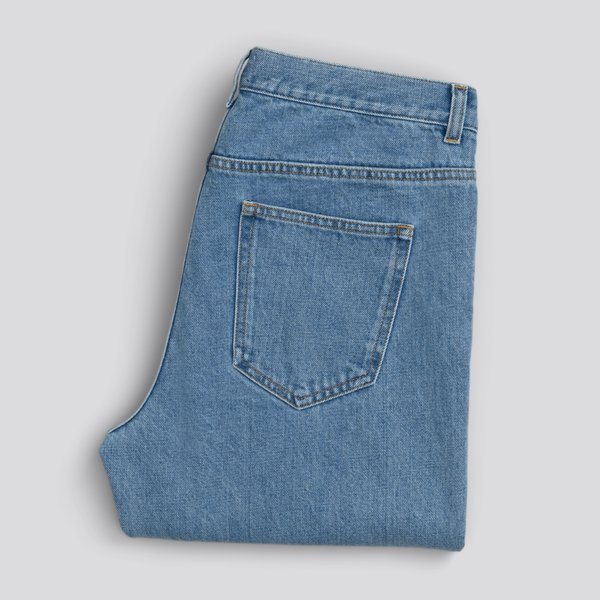 The Washed Denim Jeans Stone Bleach