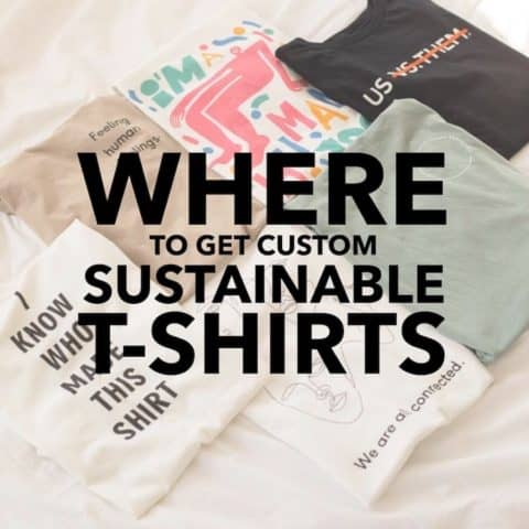 Where to Get Custom Sustainable T-Shirts for Your Organization