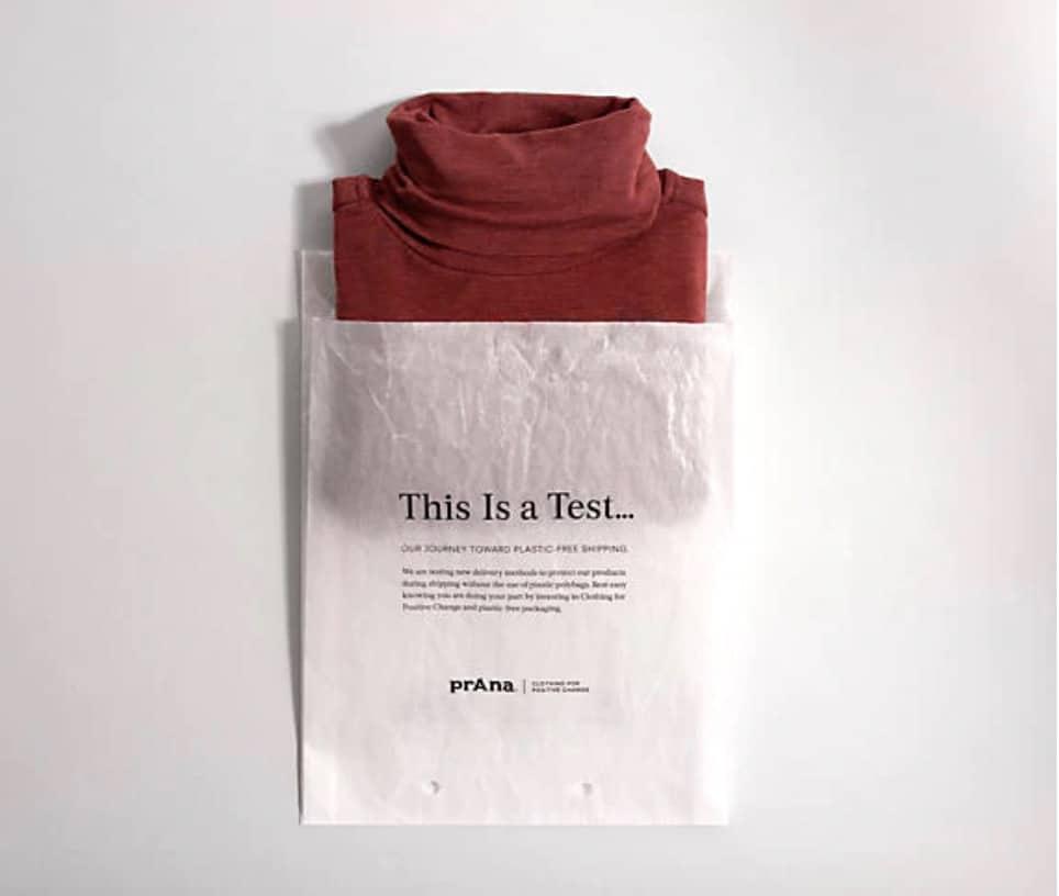 prAna sustainable packaging