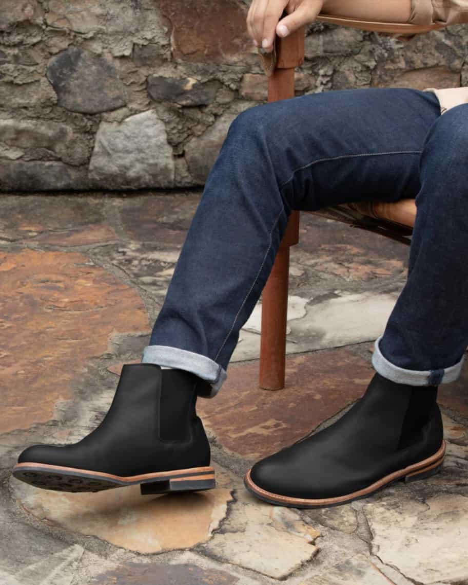 The Javier Chelsea Boot by Nisolo in Black