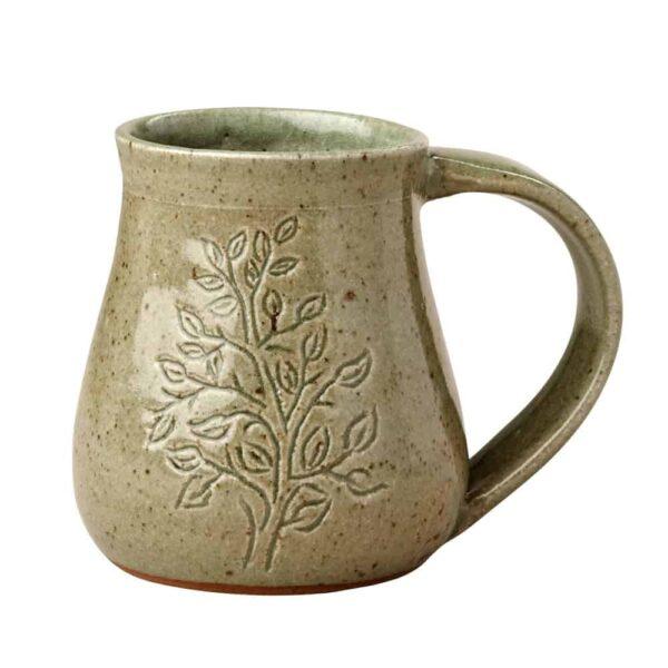 Ceramic Coffee Cup - Leaf and Branch Mug