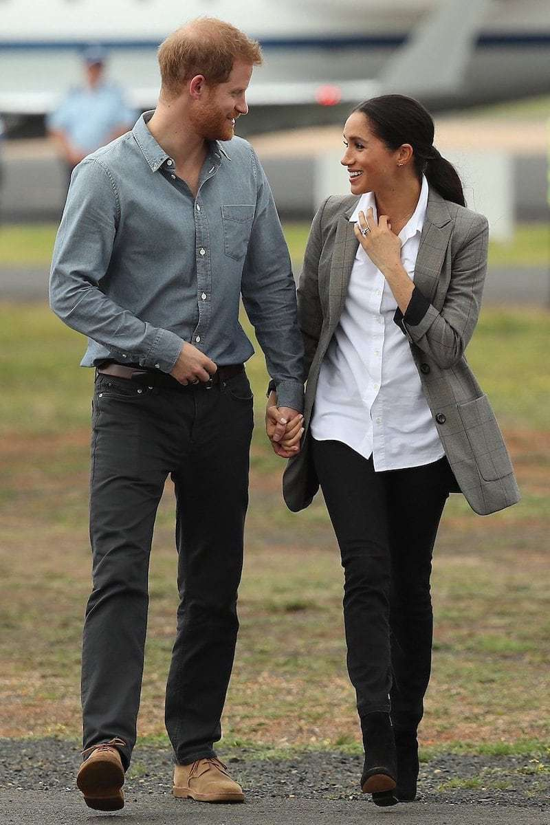 Prince Harry and Meghan Markle in Outland Denim