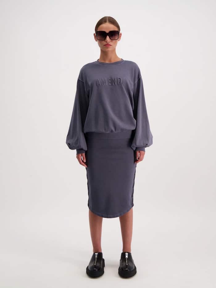 AMENDI AVA Skirt Washed Black