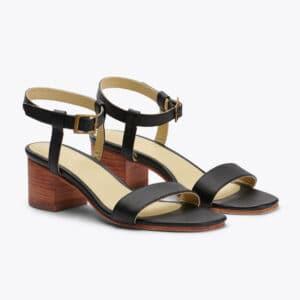 Lucia Block Heel Sandal Black