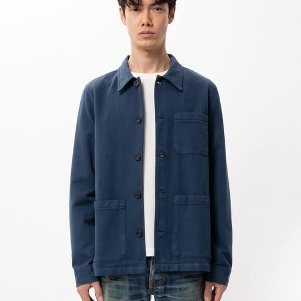 Nudie Jeans Barney Worker Jacket Indigo Blue Jackets XX Large