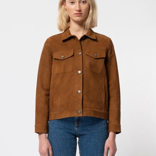 Nudie Jeans Bettina Nubuck Jacket Camel Jackets X Small