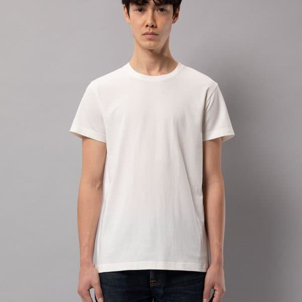 Nudie Jeans Crew Neck Nudie Jeans Offwhite T-shirts X Small