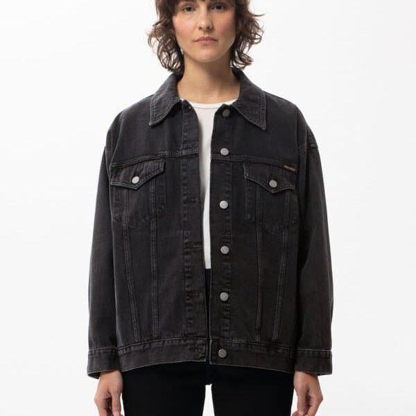 Nudie Jeans Elin Black Trace Denim Jackets Small