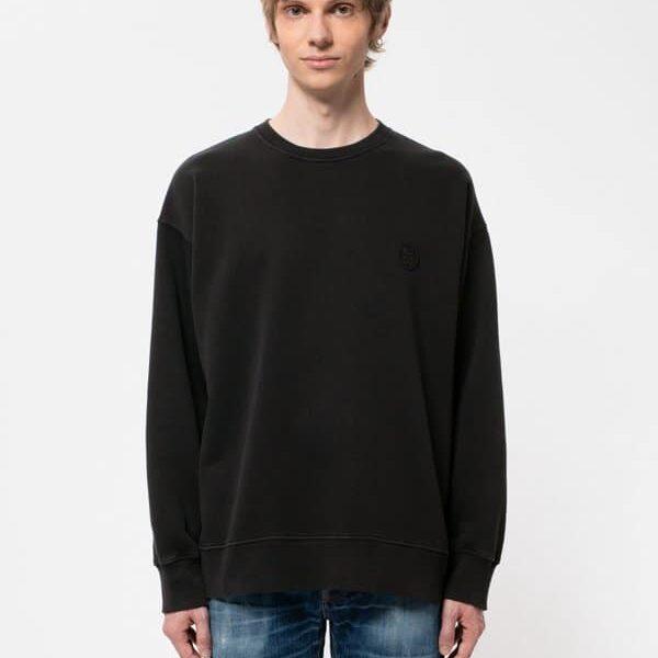 Nudie Jeans Lukas NJCO Circle Black Sweatshirts X Large