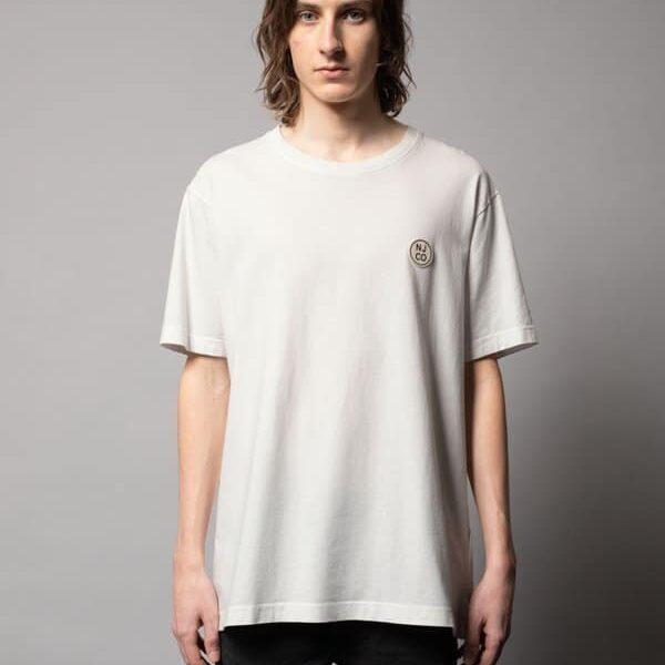 Nudie Jeans Uno NJCO Circle Chalk White T-shirts Medium