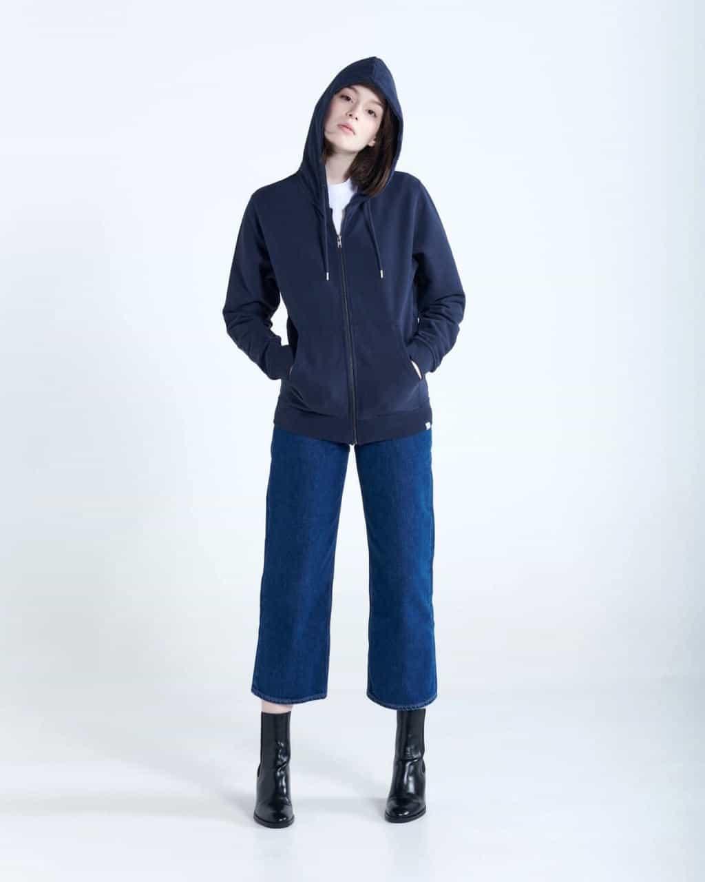 SANVT unisex zip hoodie