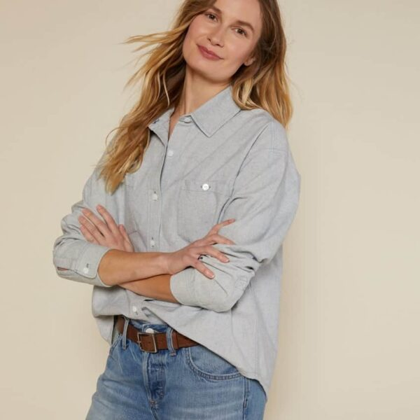 The New Denim Project Boxy Flannel Shirt