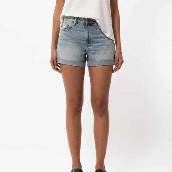 Nudie Jeans Frida Shorts Faded Sun Denim Shorts W30